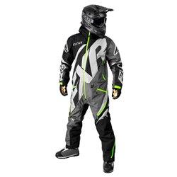FXR M CX Lite Monosuit Svart/Charcoal/Grå/Lime